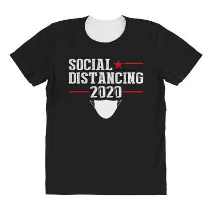 Social Distancing Shirt All Over Women's T-shirt Designed By Faical