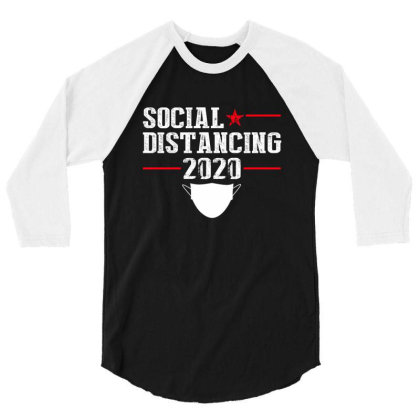 Social Distancing Shirt 3/4 Sleeve Shirt Designed By Faical