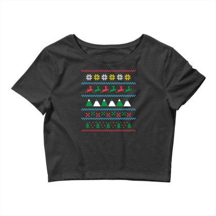 Ugly Sweater Winter Crop Top Designed By Dirjaart