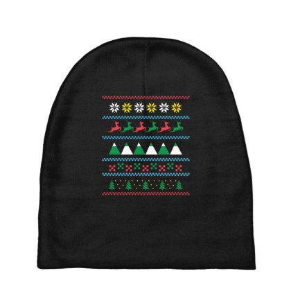 Ugly Sweater Winter Baby Beanies Designed By Dirjaart