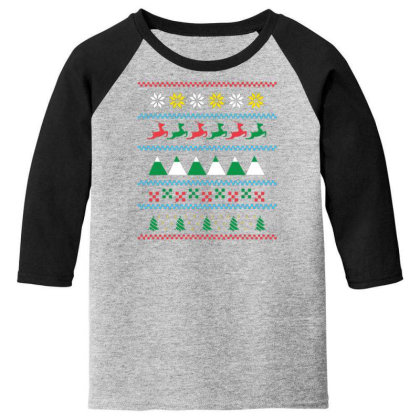 Ugly Sweater Winter Youth 3/4 Sleeve Designed By Dirjaart