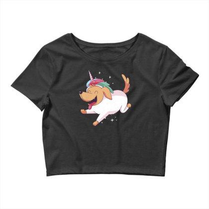 Unicorn Dog Crop Top Designed By Dirjaart