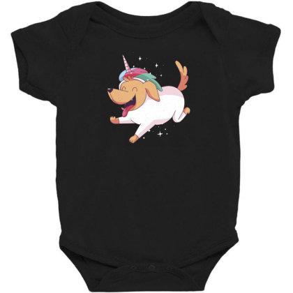 Unicorn Dog Baby Bodysuit Designed By Dirjaart
