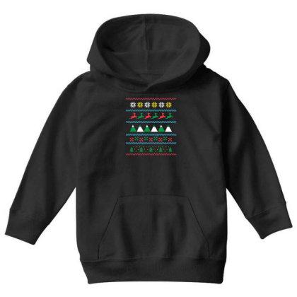 Ugly Sweater Winter Youth Hoodie Designed By Dirjaart
