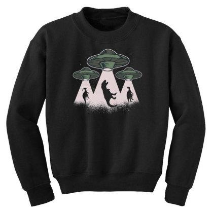 Ufo Dinos Youth Sweatshirt Designed By Dirjaart