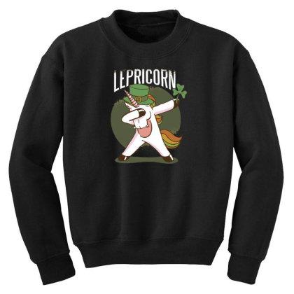 Unicorn Leprechaun Youth Sweatshirt Designed By Dirjaart