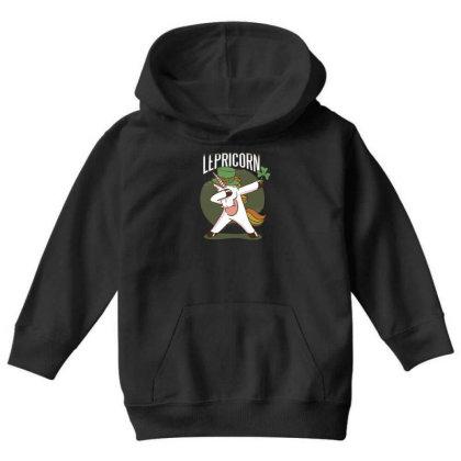 Unicorn Leprechaun Youth Hoodie Designed By Dirjaart