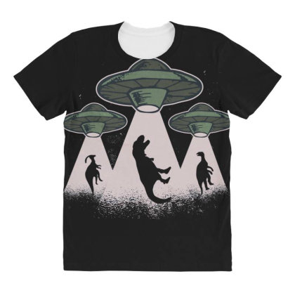 Ufo Dinos All Over Women's T-shirt Designed By Dirjaart