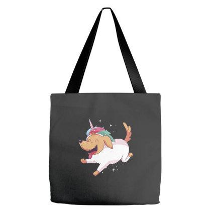 Unicorn Dog Tote Bags Designed By Dirjaart