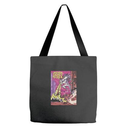Unicorn Attack Tote Bags Designed By Dirjaart