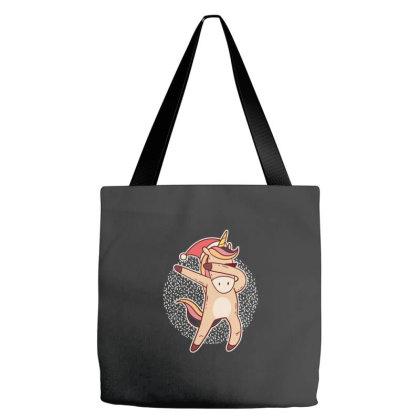 Unicorn Christmas Dabbing Tote Bags Designed By Dirjaart
