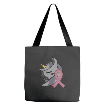Unicorn Breast Cancer Tote Bags Designed By Dirjaart