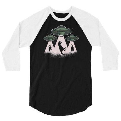 Ufo Dinos 3/4 Sleeve Shirt Designed By Dirjaart