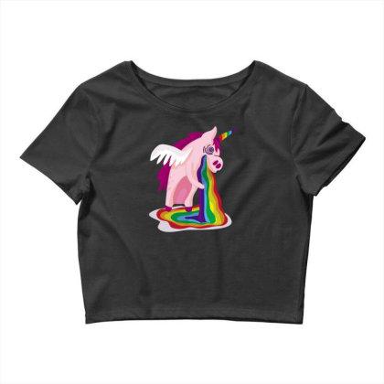 Unicorn Rainbow Crop Top Designed By Dirjaart