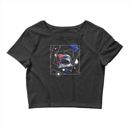 Universe Astronaut Crop Top Designed By Dirjaart
