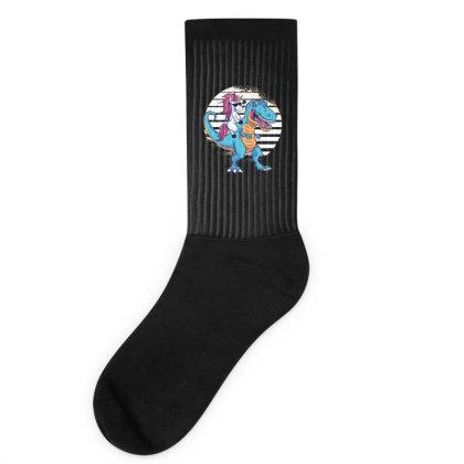 Unicorn T Rex Socks Designed By Dirjaart