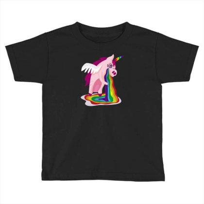 Unicorn Rainbow Toddler T-shirt Designed By Dirjaart