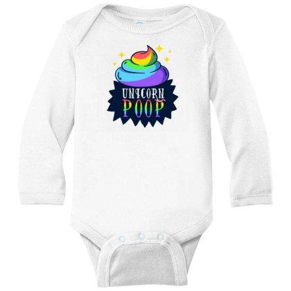 Unicorn Poop Long Sleeve Baby Bodysuit Designed By Dirjaart
