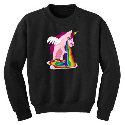 Unicorn Rainbow Youth Sweatshirt Designed By Dirjaart