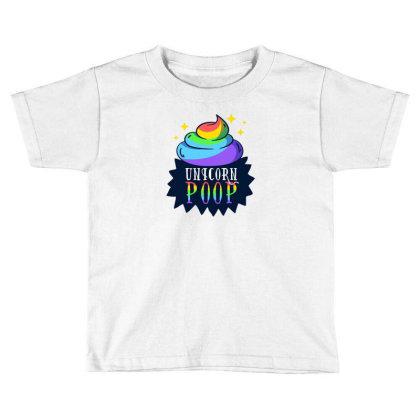 Unicorn Poop Toddler T-shirt Designed By Dirjaart