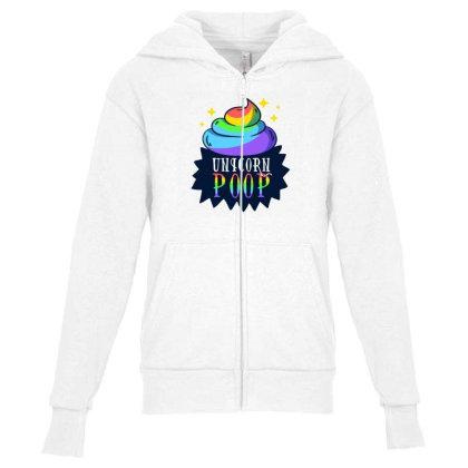 Unicorn Poop Youth Zipper Hoodie Designed By Dirjaart