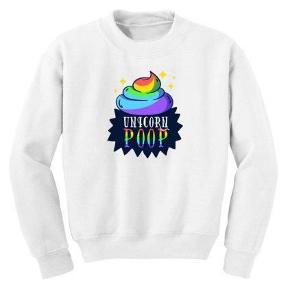 Unicorn Poop Youth Sweatshirt Designed By Dirjaart