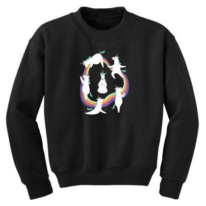 Unicorn Yoga Youth Sweatshirt Designed By Dirjaart
