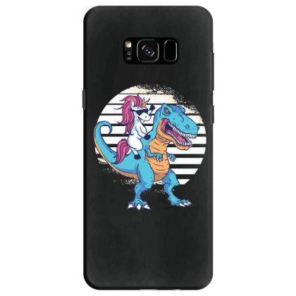 Unicorn T Rex Samsung Galaxy S8 Case Designed By Dirjaart