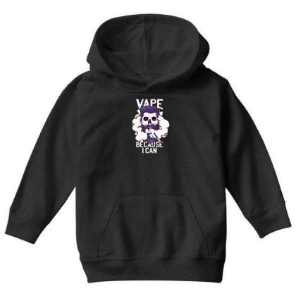 Vape Skull Youth Hoodie Designed By Dirjaart