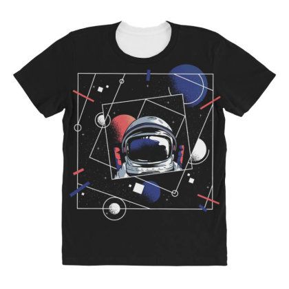 Universe Astronaut All Over Women's T-shirt Designed By Dirjaart