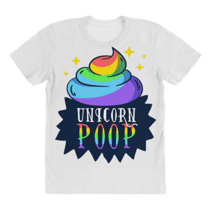 Unicorn Poop All Over Women's T-shirt Designed By Dirjaart