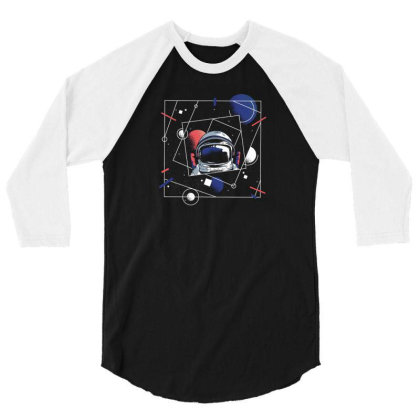 Universe Astronaut 3/4 Sleeve Shirt Designed By Dirjaart