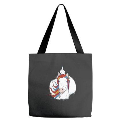 Unicorn Middle Finger Tote Bags Designed By Dirjaart