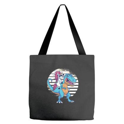 Unicorn T Rex Tote Bags Designed By Dirjaart