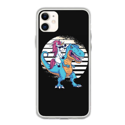 Unicorn T Rex Iphone 11 Case Designed By Dirjaart