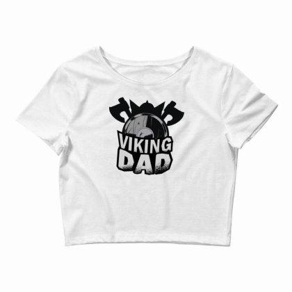 Viking Dad Crop Top Designed By Dirjaart