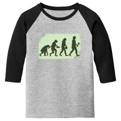 Vegan Evolution Youth 3/4 Sleeve Designed By Dirjaart