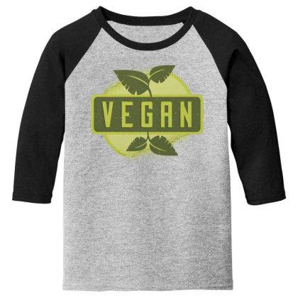 Vegan Youth 3/4 Sleeve Designed By Dirjaart
