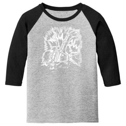 Viking Hammer Youth 3/4 Sleeve Designed By Dirjaart
