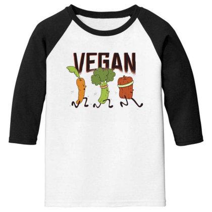 Vegan Runners Youth 3/4 Sleeve Designed By Dirjaart