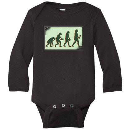 Vegan Evolution Long Sleeve Baby Bodysuit Designed By Dirjaart