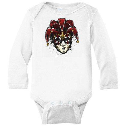 Venetian Mask Long Sleeve Baby Bodysuit Designed By Dirjaart