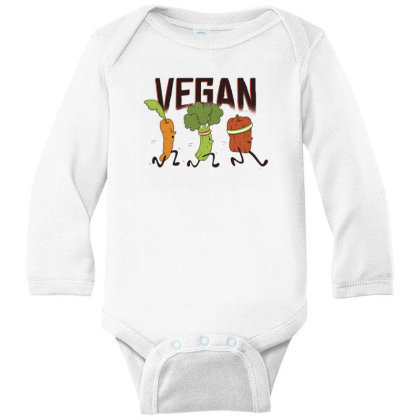 Vegan Runners Long Sleeve Baby Bodysuit Designed By Dirjaart
