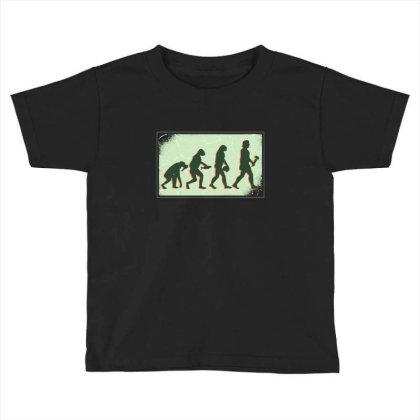 Vegan Evolution Toddler T-shirt Designed By Dirjaart