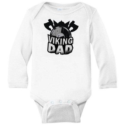 Viking Dad Long Sleeve Baby Bodysuit Designed By Dirjaart