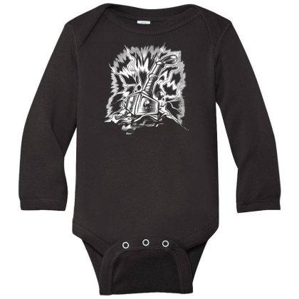 Viking Hammer Long Sleeve Baby Bodysuit Designed By Dirjaart