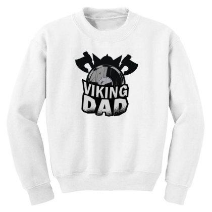 Viking Dad Youth Sweatshirt Designed By Dirjaart