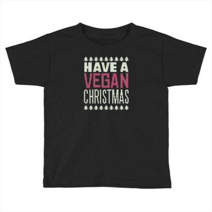 Vegan Christmas Toddler T-shirt Designed By Dirjaart