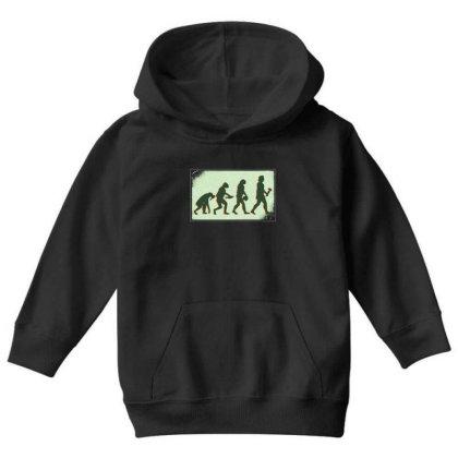Vegan Evolution Youth Hoodie Designed By Dirjaart