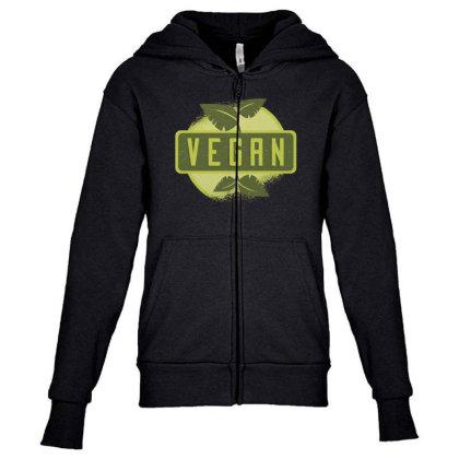 Vegan Youth Zipper Hoodie Designed By Dirjaart